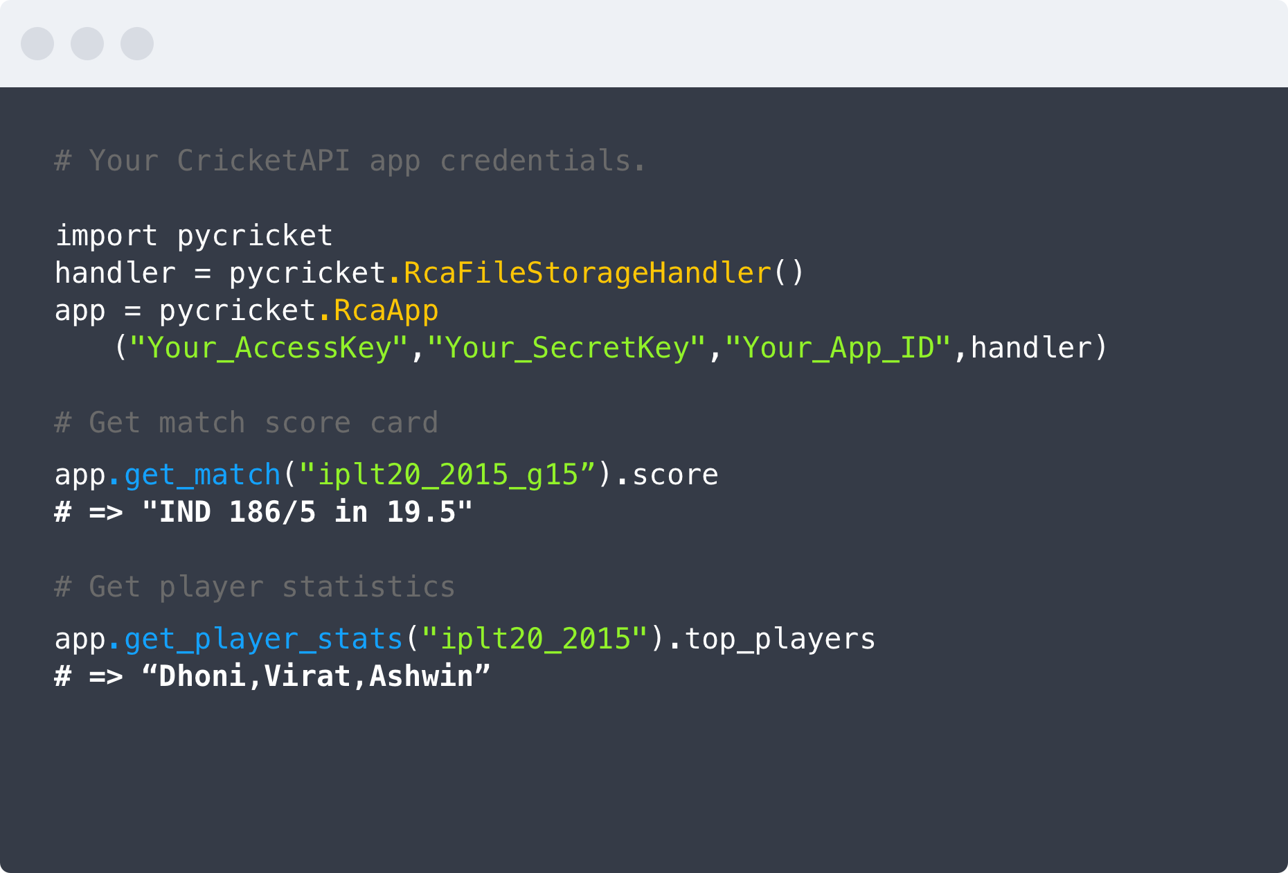 cricket-api